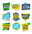 cyber monday sale banner monday vector image vector image