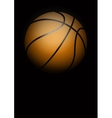 Dark Background of basketball vector image vector image