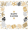 easter card with decorative frame eggs vector image