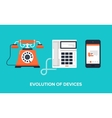 Evolution of devices vector image