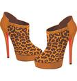 fancy high heels vector image vector image