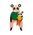 father panda and his kid loving parent animal and vector image vector image