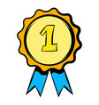 first place rosette icon icon cartoon vector image vector image