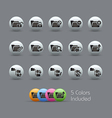 Folder Icons 1 Pearly Series vector image vector image