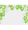green balloons colorful flying balloonsconfetti vector image vector image