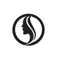 hair woman and face logo and symbols vector image vector image