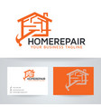 home repair logo design vector image vector image