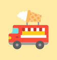 ice cream truck food truck flat style icon vector image vector image
