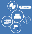 Icon set design vector image