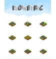 isometric road set of unfinished downward vector image vector image