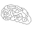 lineal brain design vector image