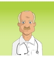 male doctor in lab coat vector image
