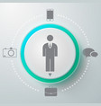 male selector round composition vector image vector image