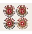meat wood emblems set vector image vector image