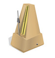 metronome on white background vector image vector image