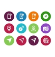 Navigator circle icons on white background vector image vector image