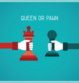 queen or pawn abstract concept in flat style vector image vector image