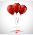realistic 3d glossy ballons with blur effect vector image vector image
