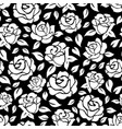 roses seamless pattern on black backdrop vector image vector image
