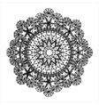 Round vintage ethnic pattern vector image
