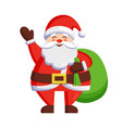 santa claus and bag with gifts vector image vector image
