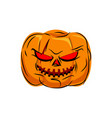 scary pumpkin for halloween vegetables for vector image vector image