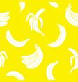 seamless pattern banana vector image vector image