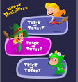 set cute kids wearing halloween costumes vector image vector image