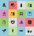 set of 16 editable sport icons includes symbols vector image vector image