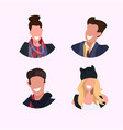 set women men face avatar collection smiling vector image