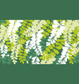 spring acacia blossom card template vector image vector image