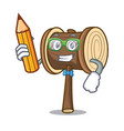 student mallet character cartoon style vector image