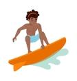 Surfing boy boy vector image vector image