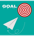 target route success business strategy concept vector image vector image