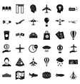 terminal icons set simple style vector image vector image