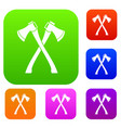 two crossed axes set collection vector image vector image