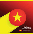 vietnam independence day background vector image vector image