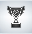 voleyball trophy cup award icon in flat style vector image vector image