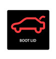 warning dashboard car icon boot lid vector image