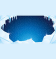 winter background with ice and icicles vector image vector image