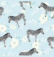 zebra pattern animal vector image vector image