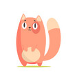 funny red cat cute cartoon animal character vector image