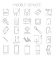 mobile service and parts icon set vector image