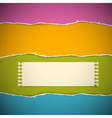 Retro Torn Paper Background vector image