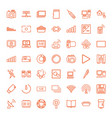 49 digital icons vector image vector image
