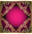 a background a frame with a gold ornament vector image vector image