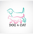 a dog and cat design on white background animal vector image vector image