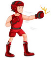a male boxing charater vector image