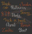 a set of hand-drawn lettering for a halloween vector image vector image
