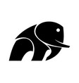 abstract elephant vector image vector image